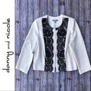 Danny & Nicole • Cropped Textured Blazer Jacket